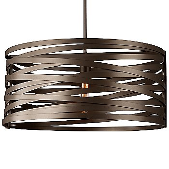 None, Exposed Lamping / Flat Bronze finish / 24 inch