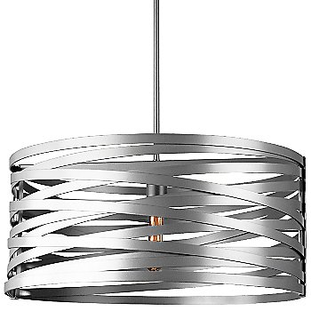 None, Exposed Lamping shade / Metallic Beige Silver finish