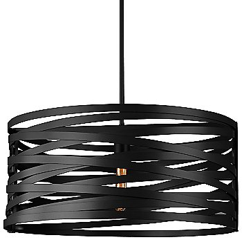 None, Exposed Lamping shade / Matte Black finish