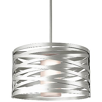 Frosted Glass shade / Metallic Beige Silver finish