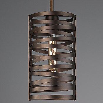 None, Exposed Lamping / Flat Bronze finish / illuminated