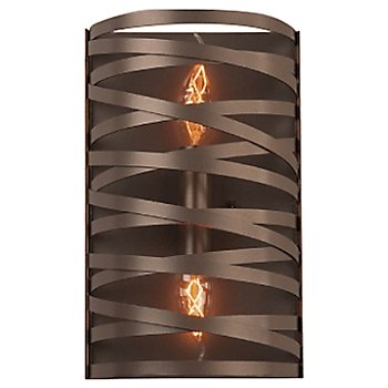 None, Exposed Lamping / Flat Bronze finish / 12 inch