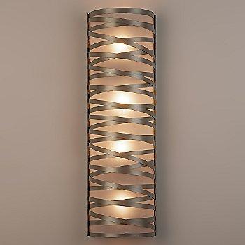 Frosted Glass / Flat Bronze finish / 24 inch / illuminated