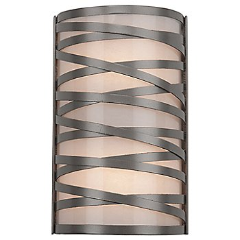 Frosted Glass / Metallic Beige Silver finish / 12 inch