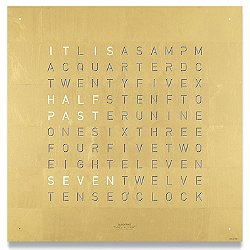 QLOCKTWO Creator's Edition Gold Wall Clock