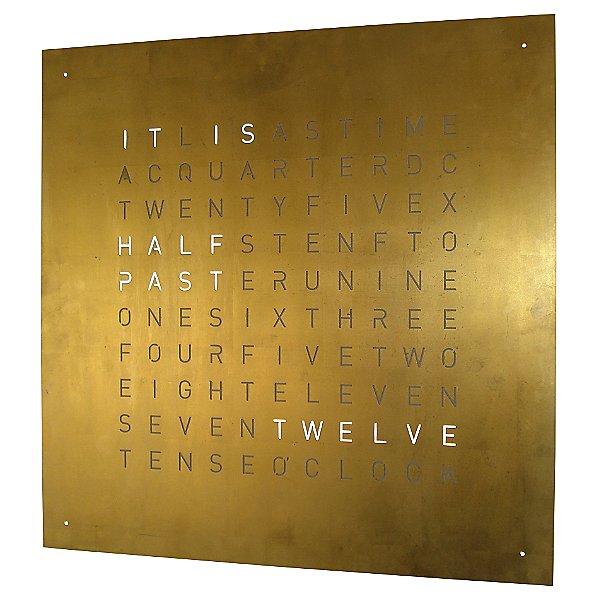 QLOCKTWO Creator's Edition Gold Wall Clock
