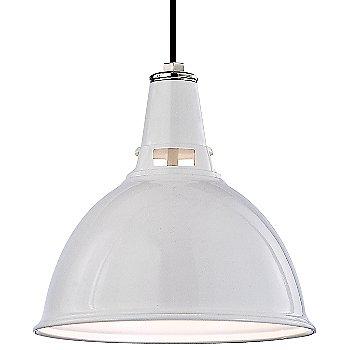 White Polished Nickel finish / Large size