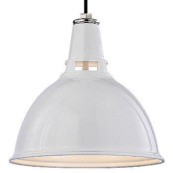 White Polished Nickel finish / Small size