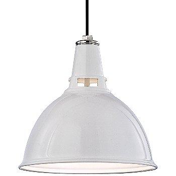 White Polished Nickel finish / Medium size