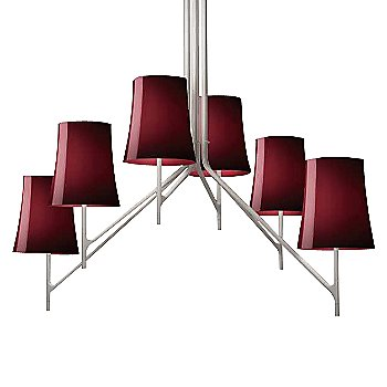 Shown in Red shade, 6 Lights