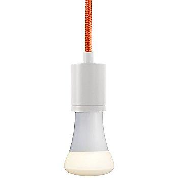 Orange cord color / White finish