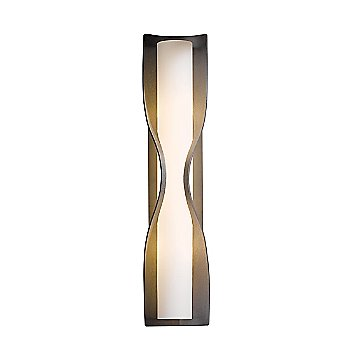Opal glass shade / Burnished Steel finish