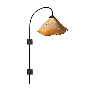 Shown in Natural Linen Shade color, Black finish