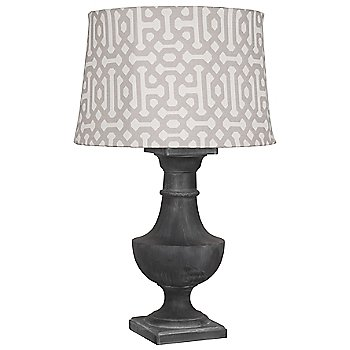 Weathered Zinc finish, Gray Jacquard Sunbrella Fabric shade