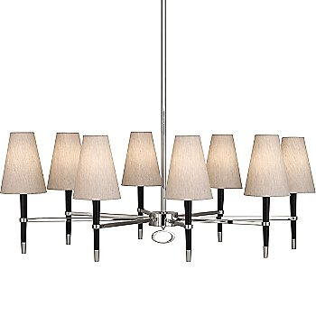Shown in Ebony Wood with Polished Nickel finish