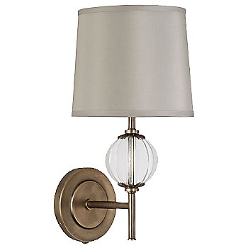 Aged Brass with Oyster Grey shade