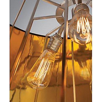Gloss Black and Gold shade / Detail view