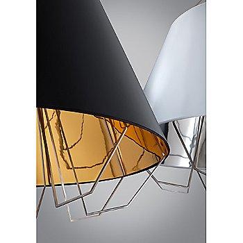 Gloss Black / Gloss Silver and Gold shade / Detail view