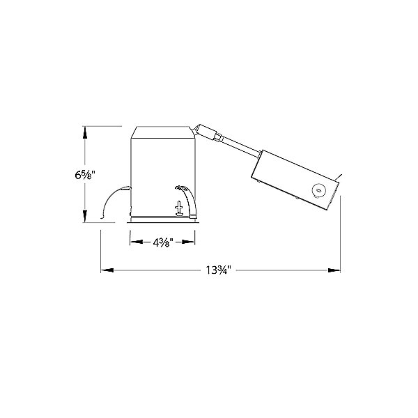 Tesla 3.5 Inch LED Airtight Remodel Housing HR-3LED-R18D-A