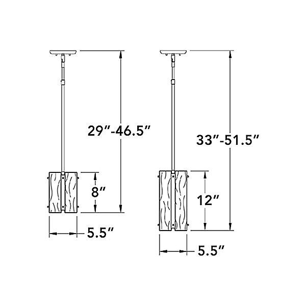 Textured Glass Mini Pendant Light