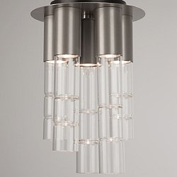 Bamboo Mixed Glass Flush Mount Ceiling Light