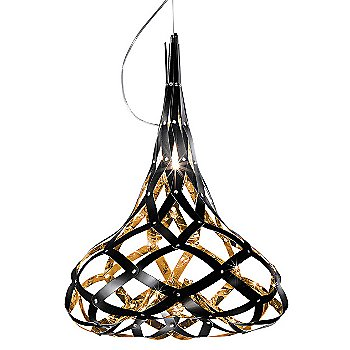 Shown in Black and Gold finish