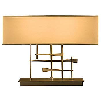 Doeskin Micro-Suede shade color / Gold finish