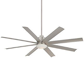 Brushed Nickel Wet fan body finish / Silver with Etched Opal shade