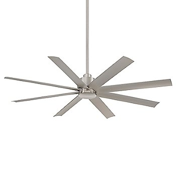 Brushed Nickel Wet fan body finish / Silver with Etched Opal blades