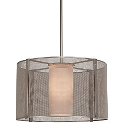 Uptown Mesh Drum Pendant Light