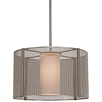 Frosted Glass / Metallic Beige Silver finish / 18 inch