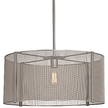 None, Exposed Lamping / Metallic Beige Silver finish / 24 inch