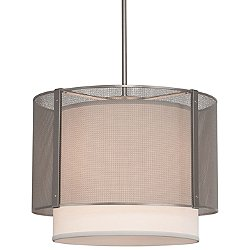 Uptown Mesh Drum Chandelier With Shade