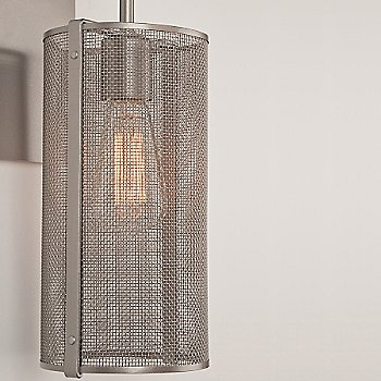 Metallic Beige Silver finish / None, Exposed Shade