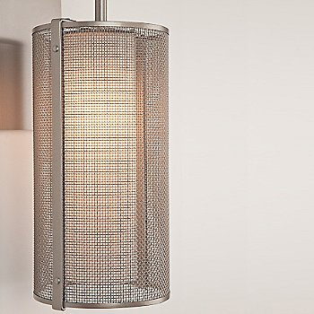 Metallic Beige Silver finish / Frosted Glass