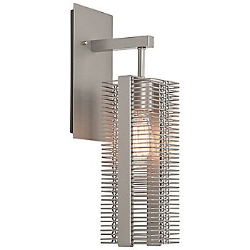 Metallic Beige Silver finish / None, Exposed Lamping / illuminated