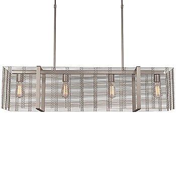 None, Exposed Lamping / Metallic Beige Silver finish / illuminated
