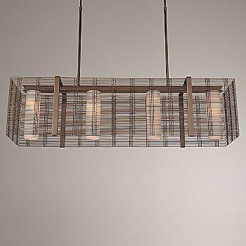 Frosted Glass / Flat Bronze finish / illuminated