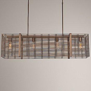 None, Exposed Lamping / Flat Bronze finish