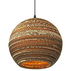 Moon Scraplight Natural Pendant Light (Small/E26 Medium Base) - OPEN BOX