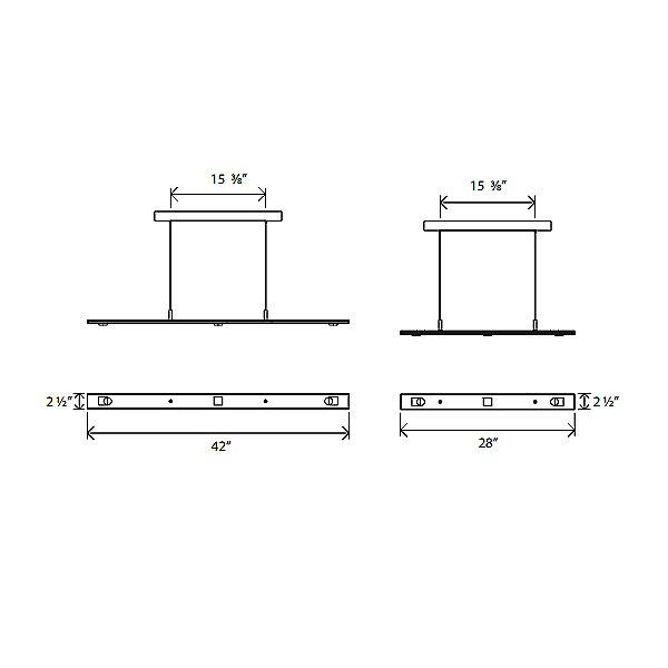 Brevis LED Linear Pendant Light