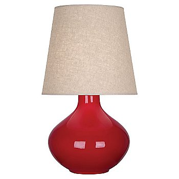 Ruby Red finish, Buff Linen shade