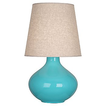Egg Blue finish, Buff Linen shade
