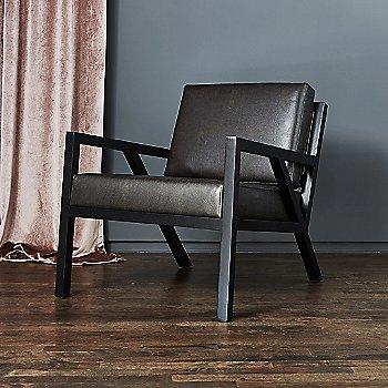 Leather Licorice fabric / Ash Black base, in use