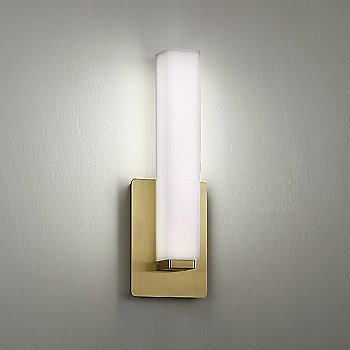 Brushed Brass finish, illuminated