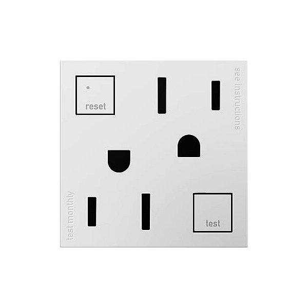 adorne Tamper Resistant GFCI Outlet, 2-Module
