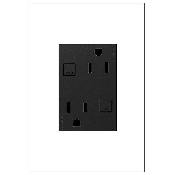 adorne Tamper Resistant GFCI Outlet, 3-Module