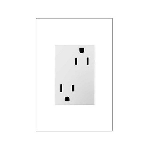 adorne Tamper Resistant Outlet, 3-Module