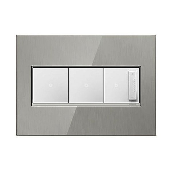 adorne Real Materials Stainless Wall Plates
