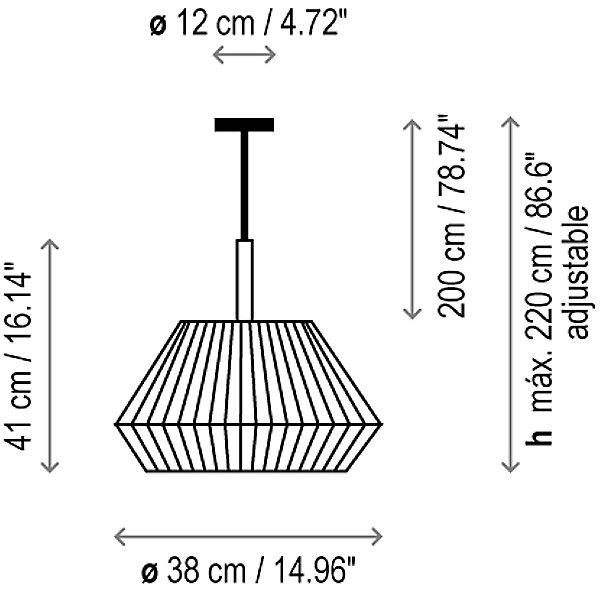 Mei 38 Pendant Light